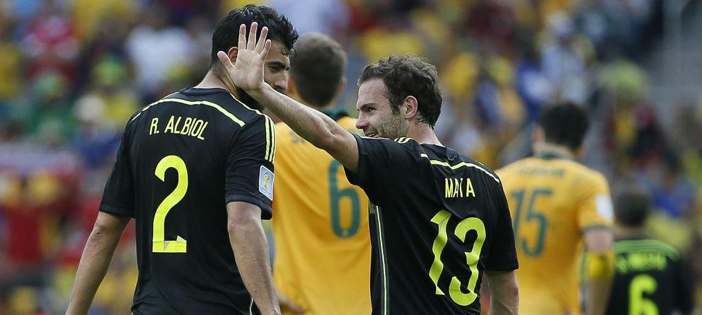Foto: Mata, en su último partido con España