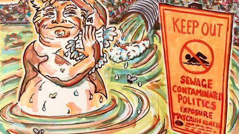 Así son los grotescos dibujos anti-Trump que está haciendo Jim Carrey