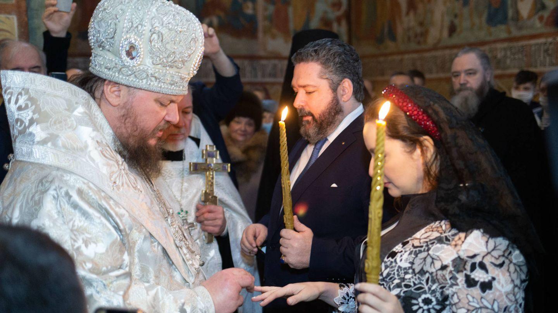El intercambio de los anillos. (Foto: Cancillería de la Casa Imperial de Rusia)