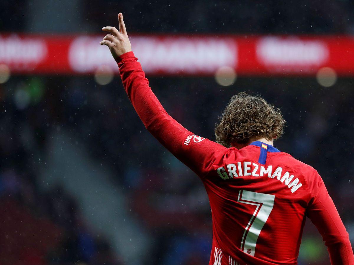 Foto: Griezmann celebra un tanto en el Atlético de Madrid. (Reuters)