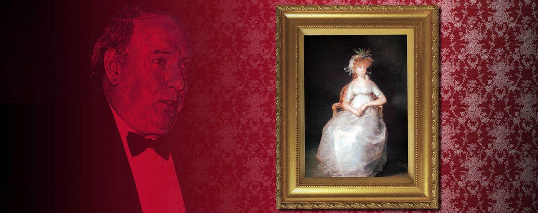 Foto: El conde de Chinchón y la famosa pintura de Goya (Fotomontaje de Vanitatis)
