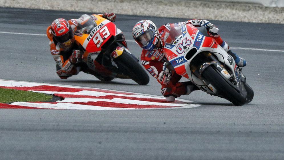 Foto: Márquez y Dovizioso pelearán en Cheste por el título de MotoGP. (EFE)