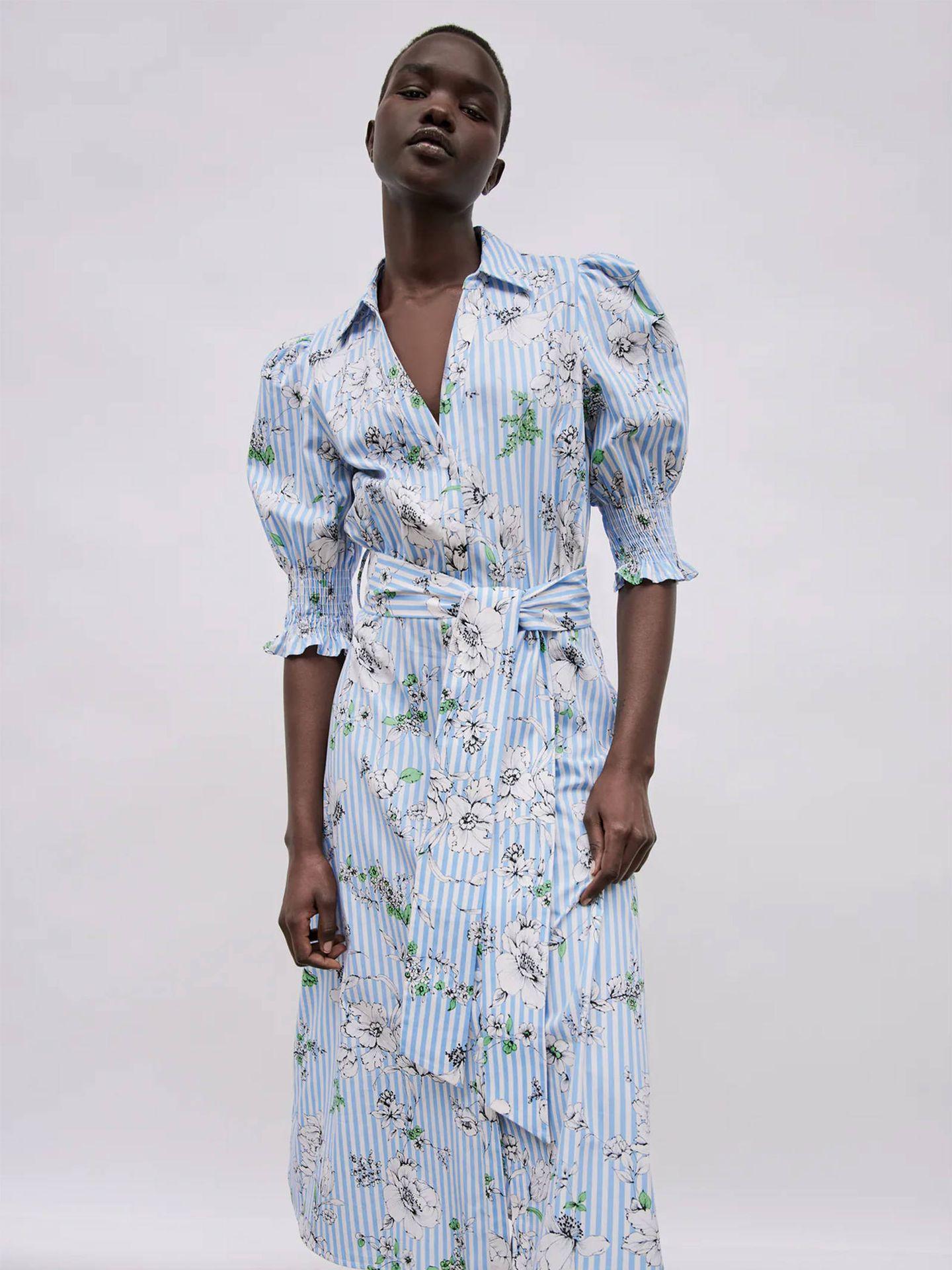 Vestido camisero de Zara. (Cortesía)