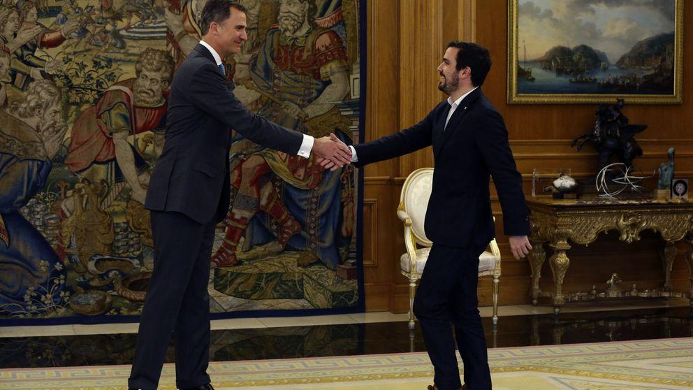 El Rey se interesa por la confluencia de Podemos e IU para el 26-J