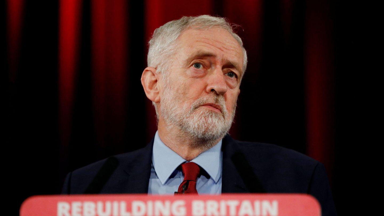 Jeremy Corbyn, líder del Partido Laborista, durante un discurso en Hastings. (Reuters)
