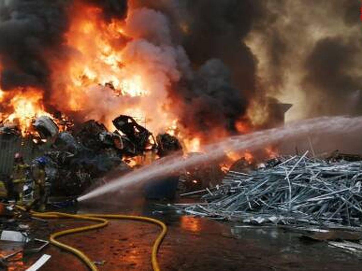 Foto: Incendio en Castellbisbal (Barcelona). (Bomberos de la Generalitat)