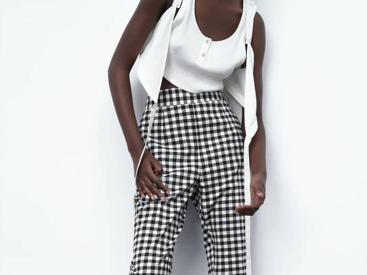 Foto: Pantalones de cuadros vichy de Zara. (Cortesía)