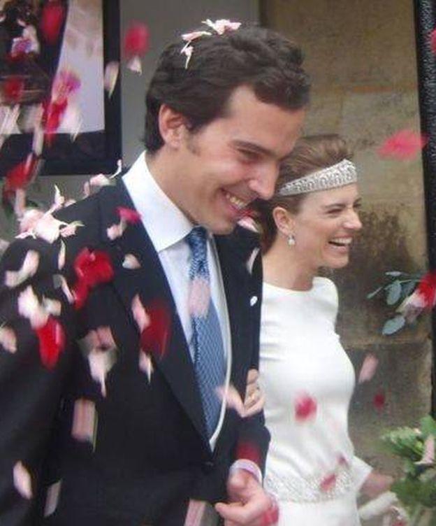 Foto: Hilda y su marido durante la boda (Facebook)