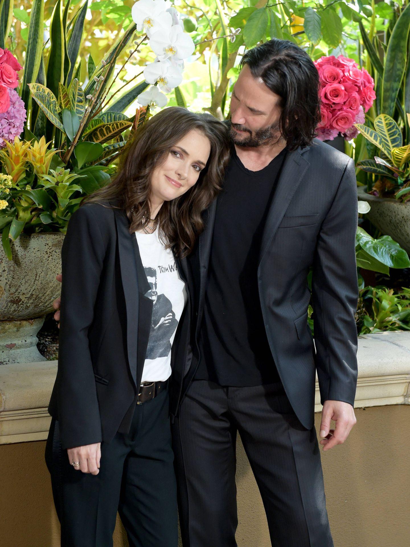 Keanu y Winona Ryder, en una foto el pasado agosto. (Getty)