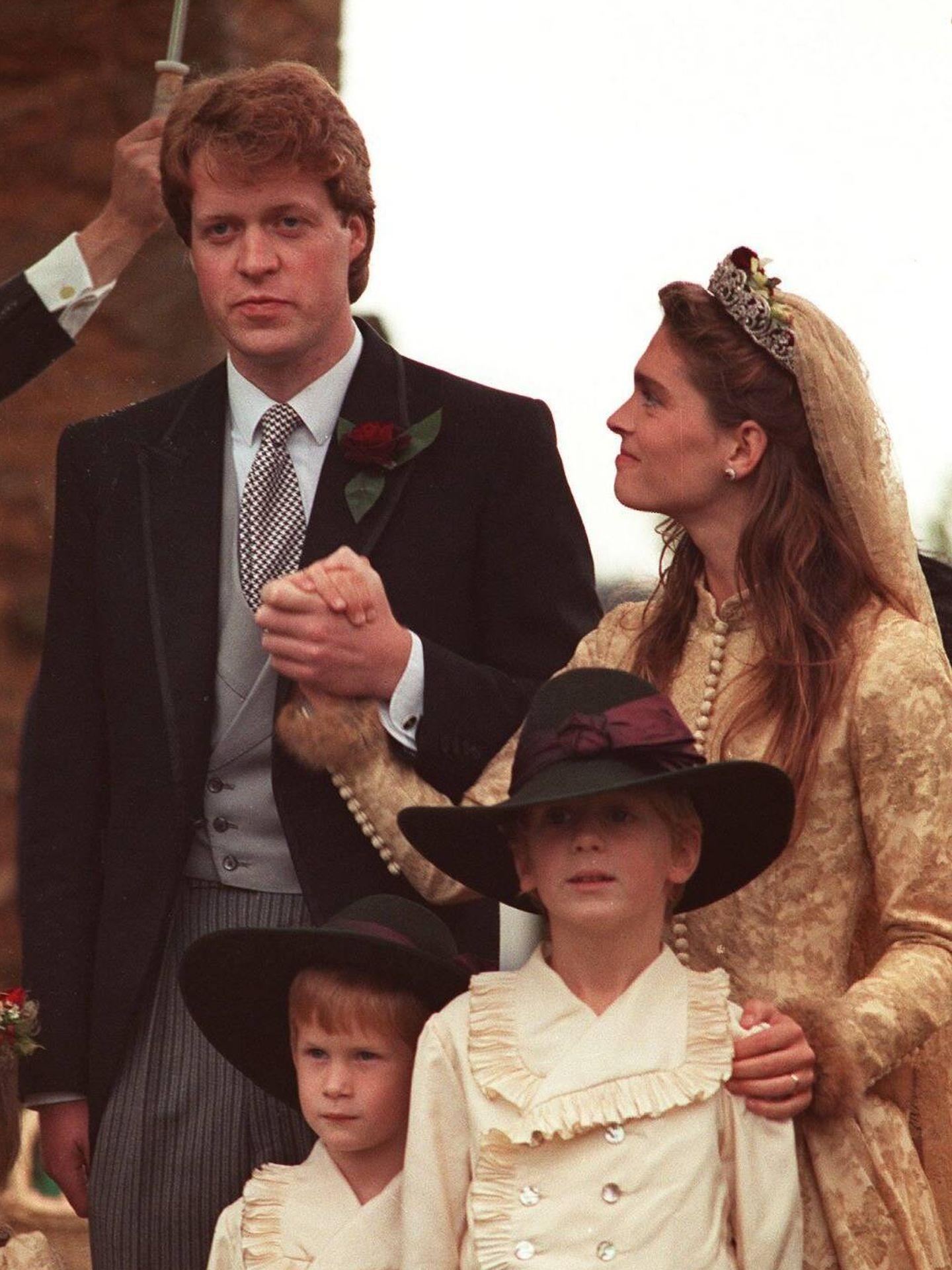 Charles Spencer y Victoria Lockwood, el día de su boda. (Cordon Press)