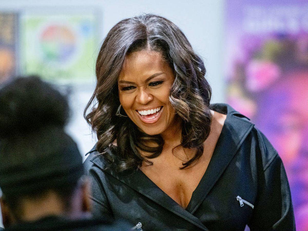Foto: Michelle Obama, durante la promoción de su libro en Nueva York. (Getty)