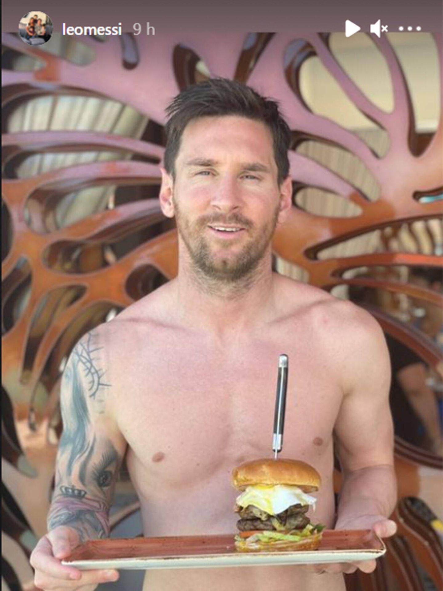 Leo Messi disfruta de sus vacaciones en el Guitar Hotel de Hard Rock. (Instagram @leomessi)