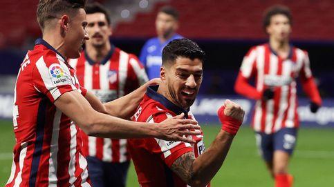 Luis Suárez hace olvidar a Costa frente al Getafe (1-0), pero el Atleti vuelve a aburrir