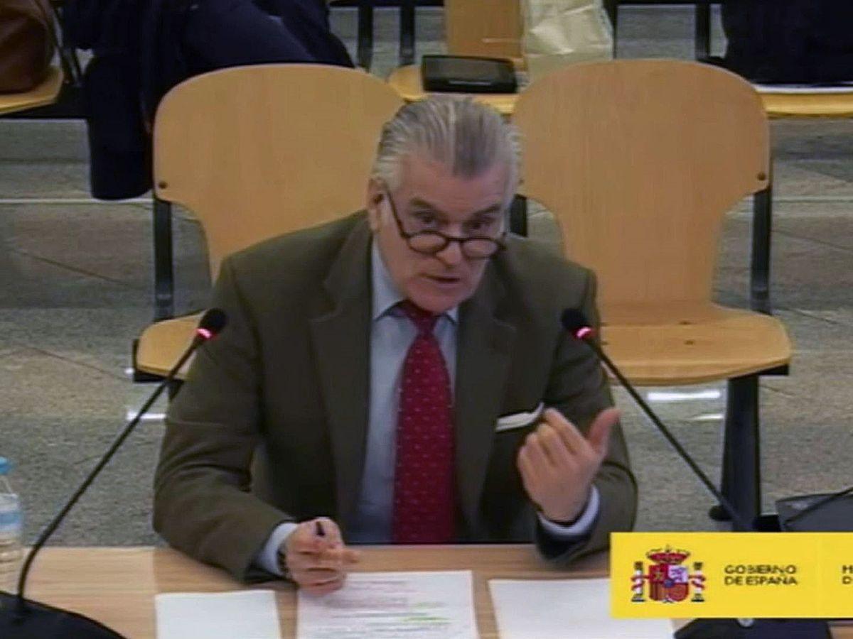 Foto: El extesorero del PP Luis Bárcenas, durante su segunda jornada de declaración en el juicio de la caja B. (EFE)