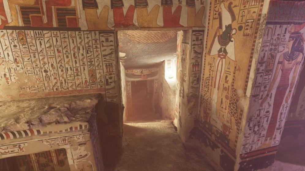 Foto: Parte de la tumba de Nefertari. (Curiosity Stream)