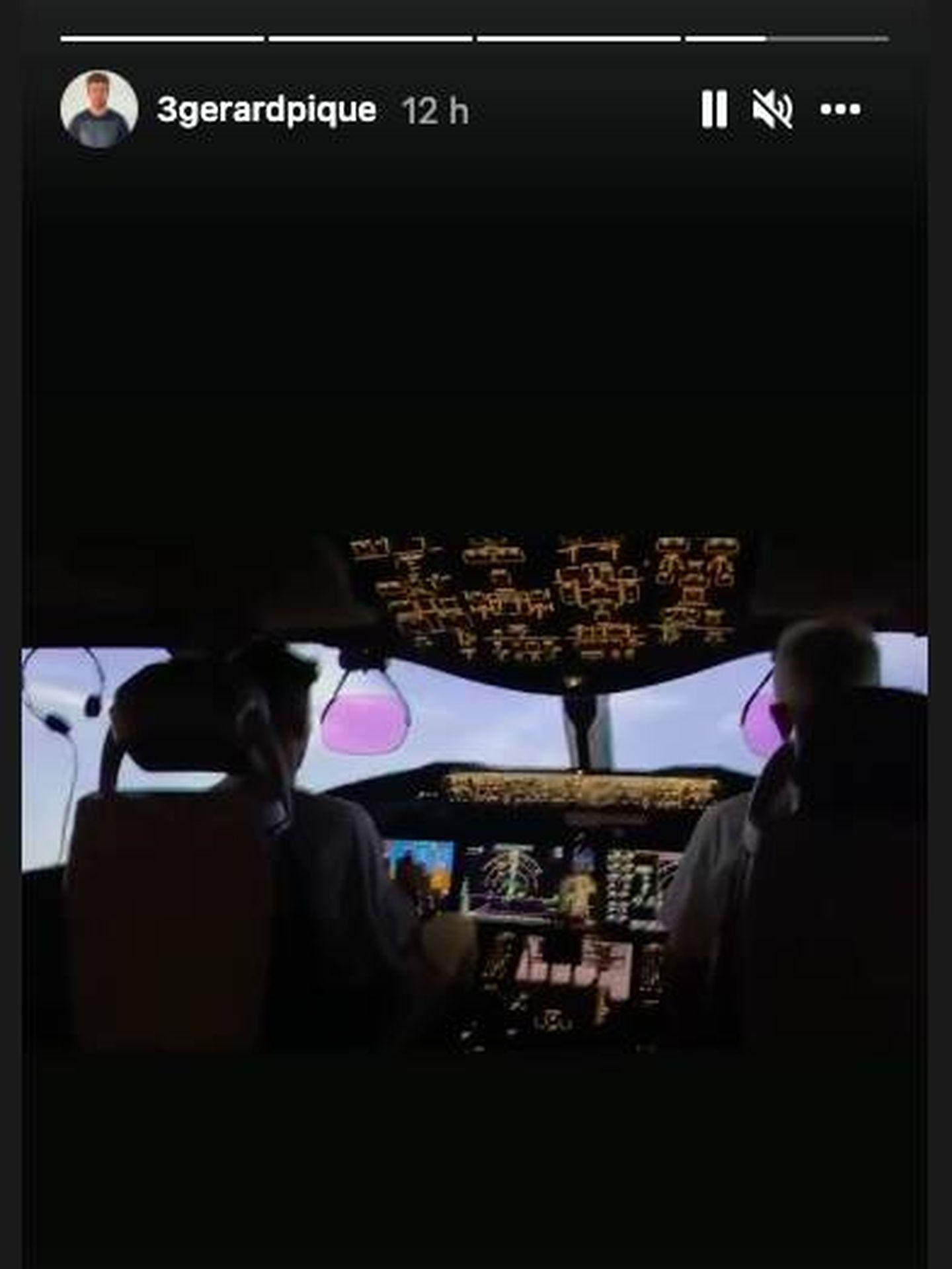 Gerard Piqué, piloto de avión. (Instagram @3gerardpique)