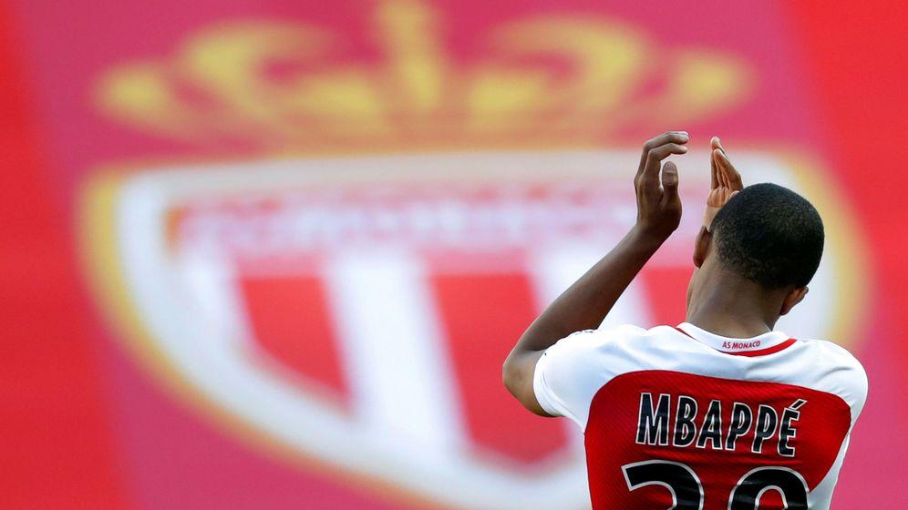 Foto: Kylian Mbappé celebra un gol con el Mónaco. (Reuters)