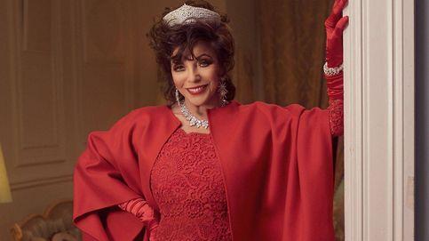 Joan Collins se convierte en la reina de la Navidad
