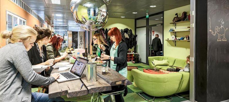 Foto: Vista interior de las oficinas de Rovio, la empresa creadora del juego Angry Birds