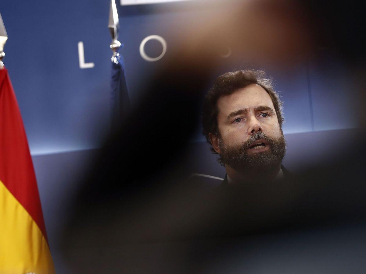 Foto: Espinosa de los Monteros en rueda de prensa. (EFE)