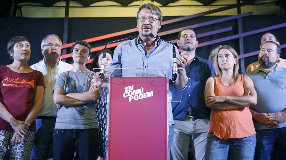 Foto: El cabeza de lista de En Comú Podem, Xavier Domènech. (Efe)