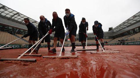 Día de lluvia en Roland Garros