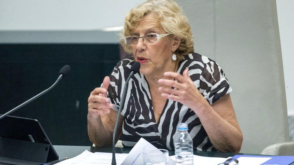 Foto: Manuela Carmena, en el debate sobre el estado de la ciudad en 2016. (EFE)