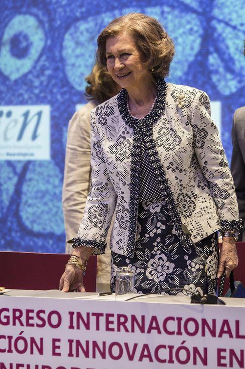 La Reina Sofía en el Congreso Internacional sobre Investigación de Málaga (Efe)