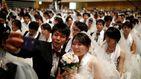 4.000 parejas se dan el 'sí quiero' en una boda multitudinaria en Corea del Sur