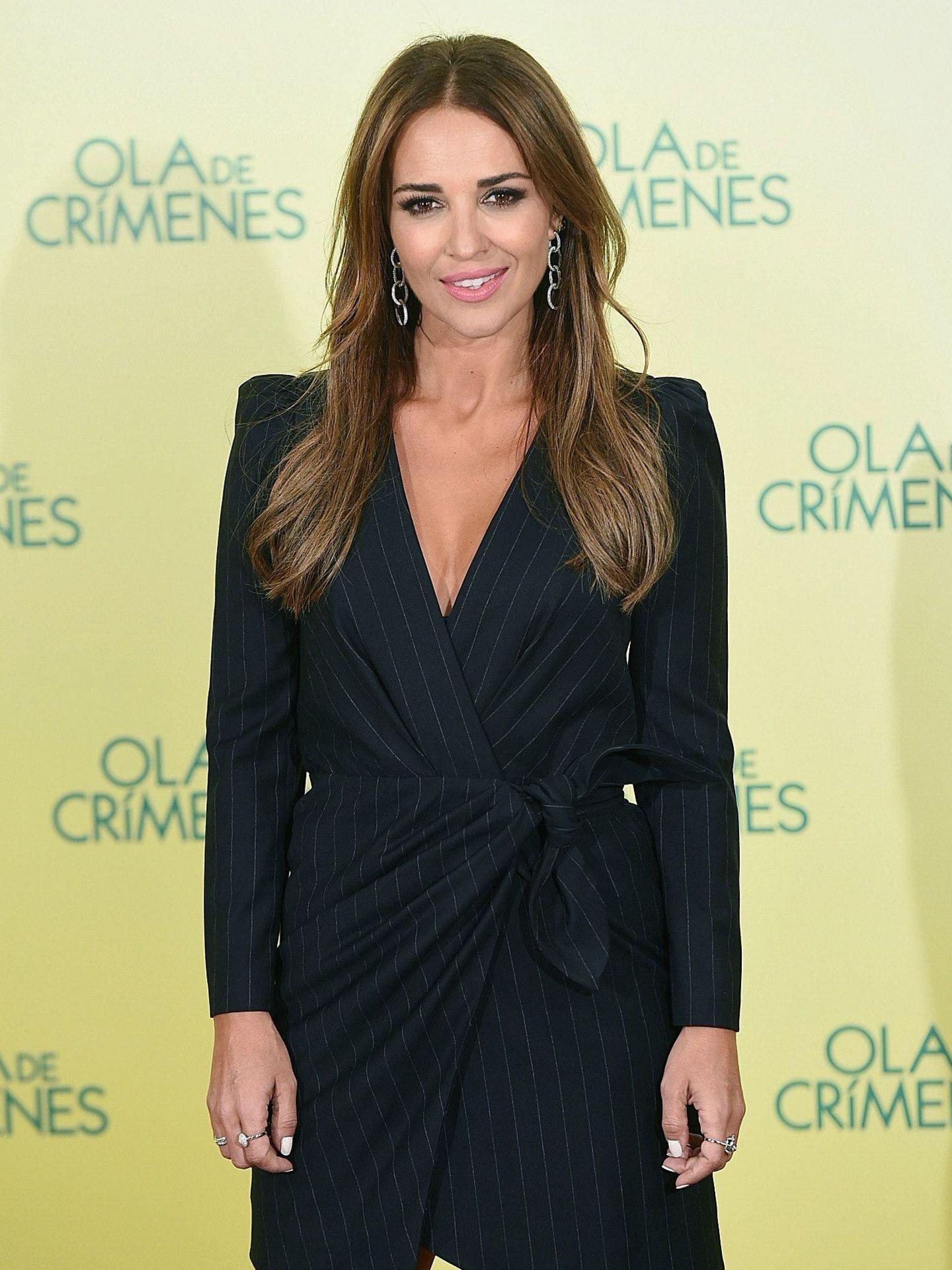 Paula Echevarría con un vestido tipo blazer. (EFE)