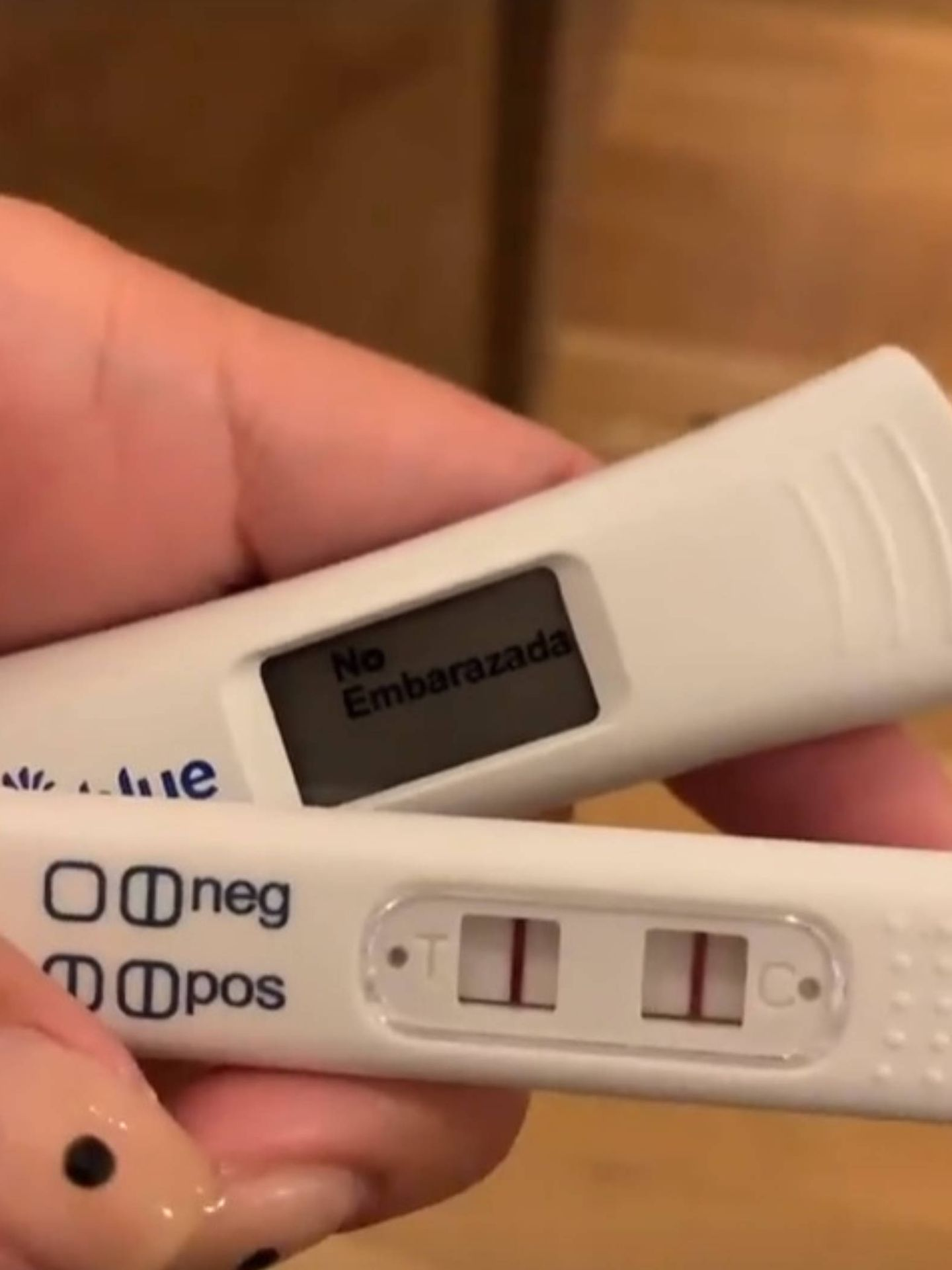 El segundo test de Anabel era claro, no está embarazada. (Instagram @anabelpantoja00)