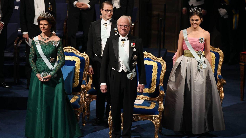 La familia real sueca, durante los últimos Premios Nobel. (Getty)