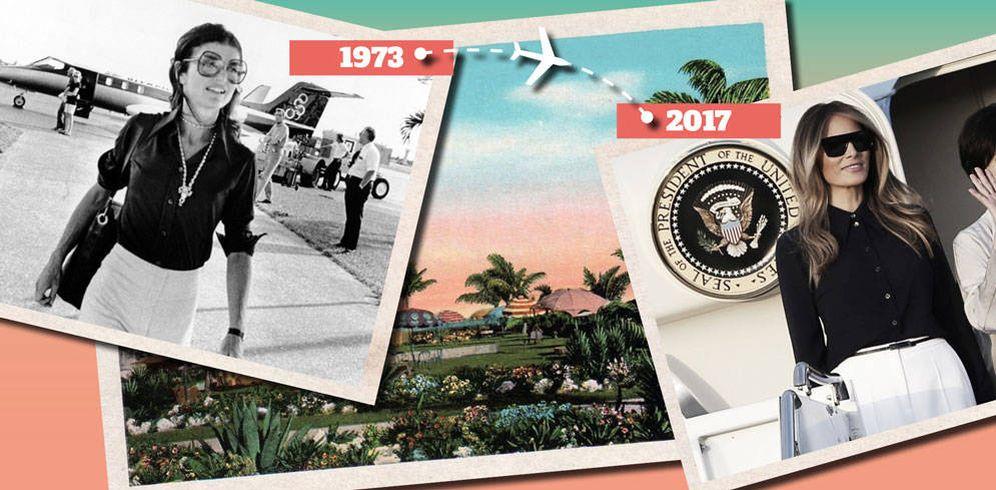 Foto: Jackie Kennedy y Melania Trump con un look parecido