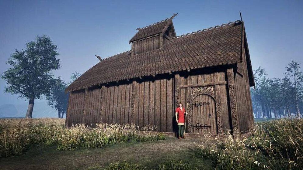 Foto: Reconstrucción de la casa de dios. Foto: Museo Universitario de Bergen