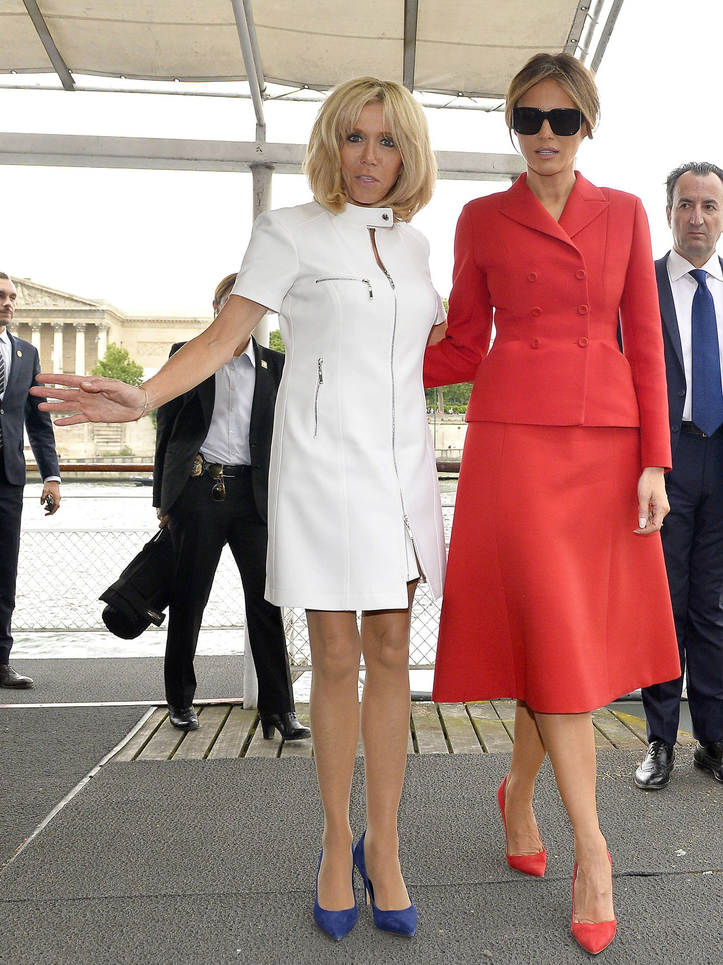 Melania Trump y Brigitte Macron. (Getty)