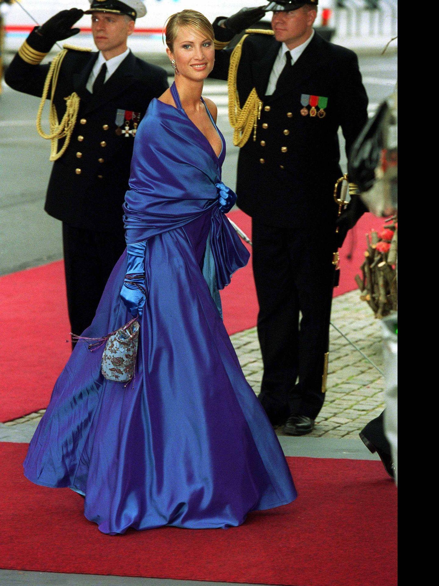 Eva Sannum, en la boda de los príncipes Haakon y Mette-Marit. (Cordon Press)