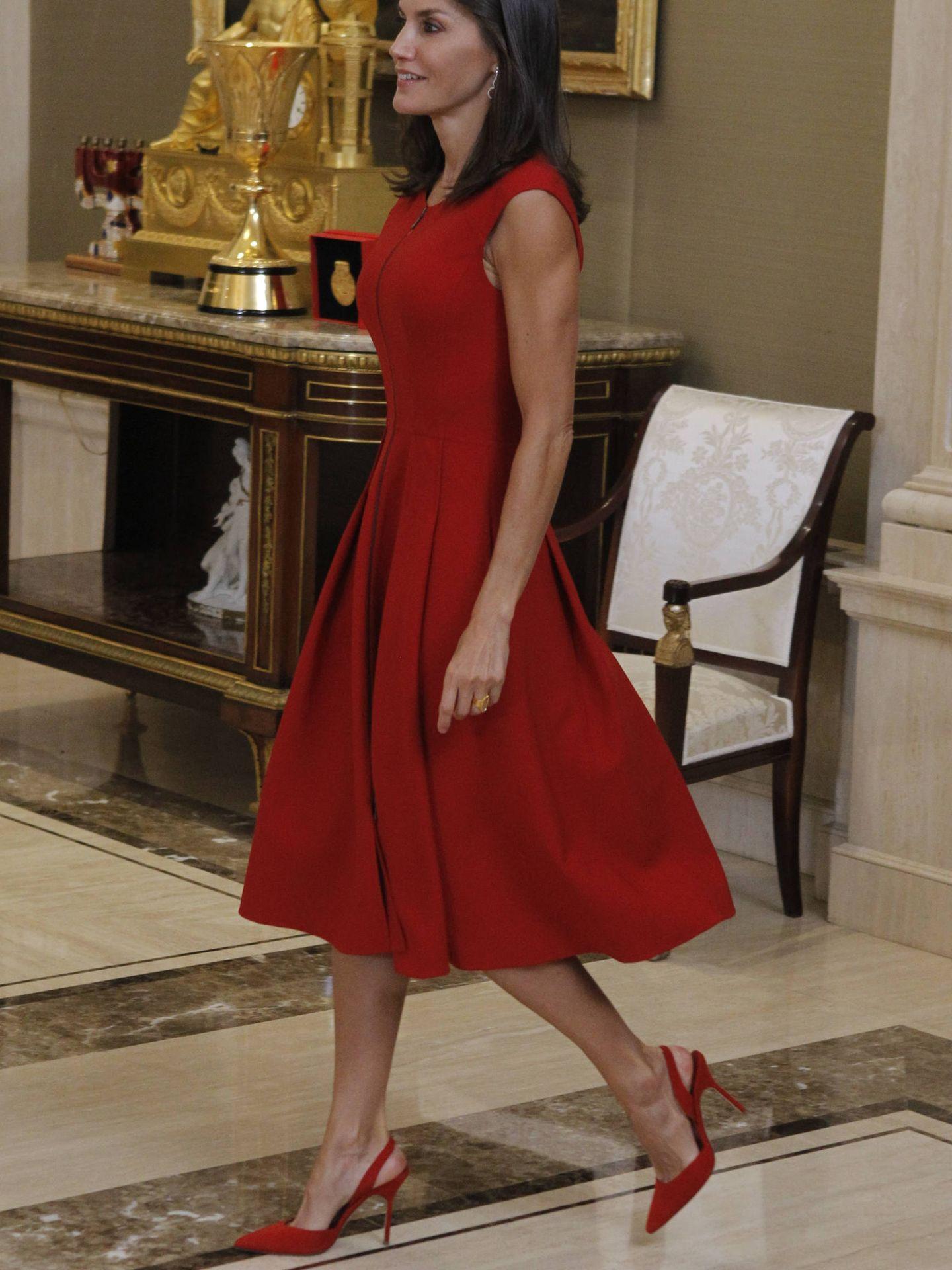 La reina Letizia, este lunes en el palacio de la Zarzuela. (Limited Pictures)