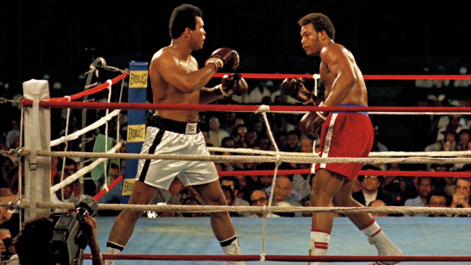 Foto: Muhammad Alí, en su pelea contra Foreman (EFE)