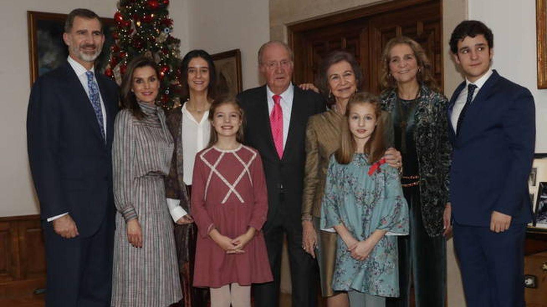 Una de las últimas imágenes de la familia real (casi) al completo. (Gtres)