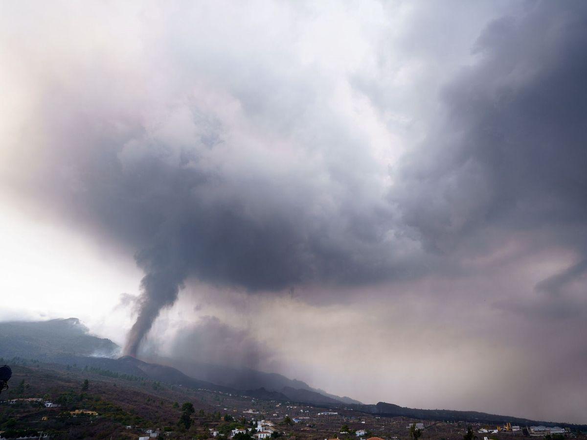 Foto: La erupción del nuevo volcán de La Palma comienza su cuarto día. Foto: Efe