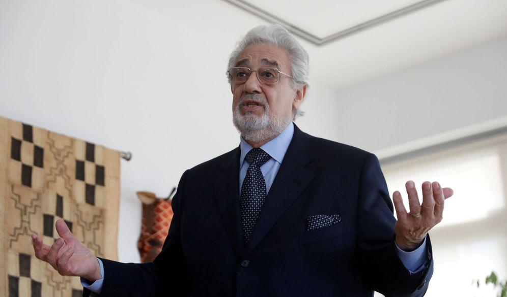 Foto: Plácido Domingo, en un evento en la Escuela de Música de Manhattan. (Reuters)