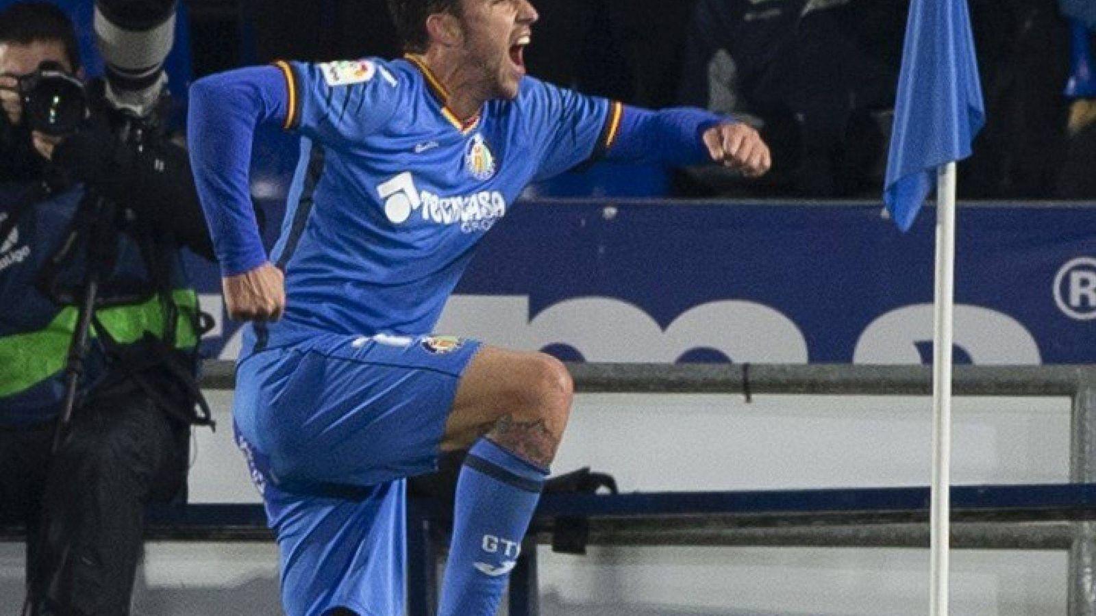Foto: Jugadores del Getafe celebran un gol. (EFE)