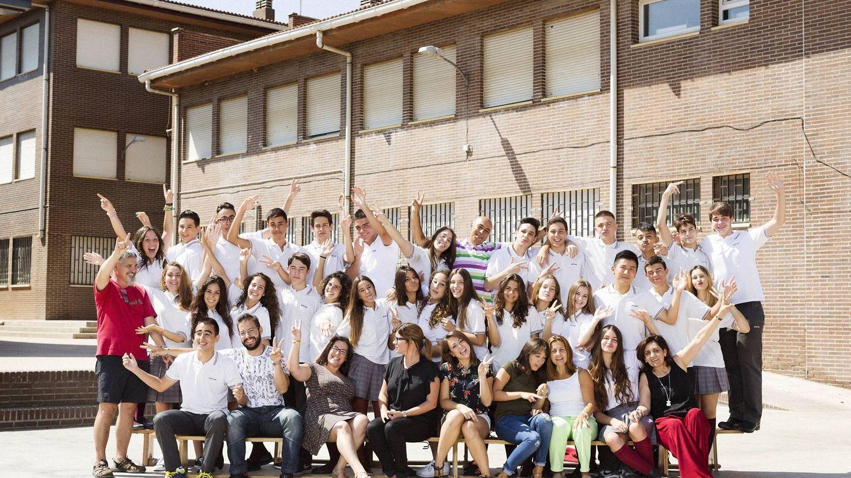 Foto: Los alumnos del colegio de Fuenlabrada. (Movistar )