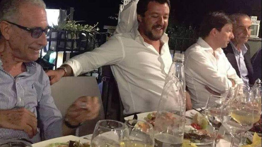 Matteo Salvini se fue de fiesta horas después del derrumbe del puente Morandi