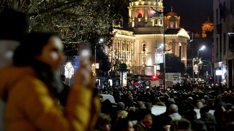 Protesta en Serbia contra el gobierno