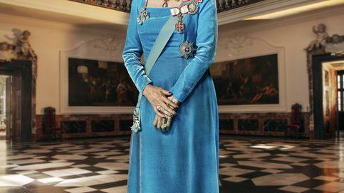 La tiara, el vestido...: los detalles del nuevo retrato oficial de Margarita de Dinamarca