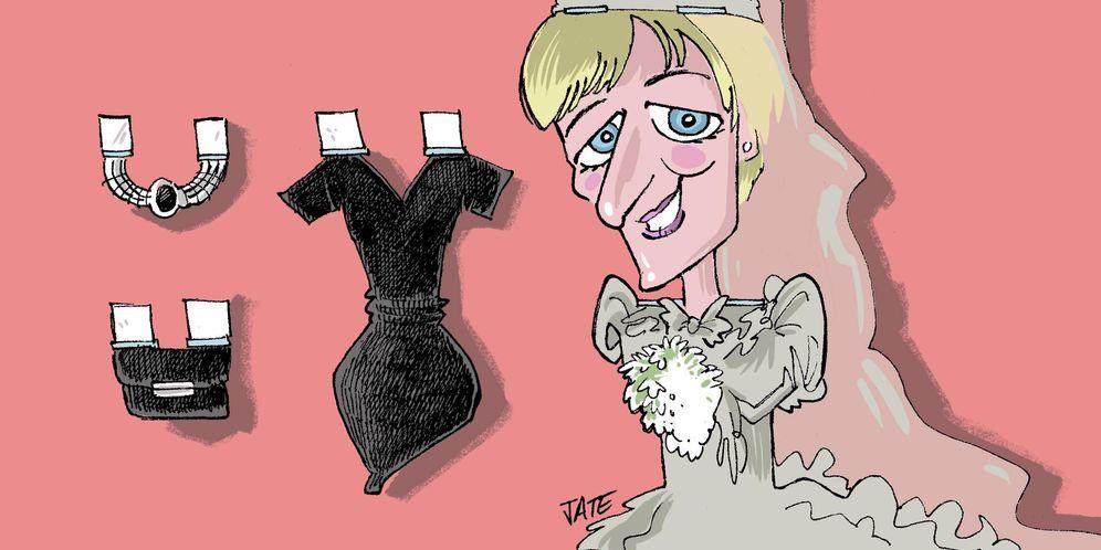 Foto: La princesa Diana. (Ilustración realizada por Jate para Vanitatis)