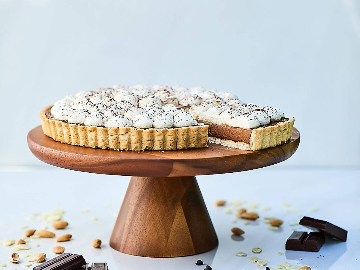 Foto: Tarta de chocolate con nata de Taart.
