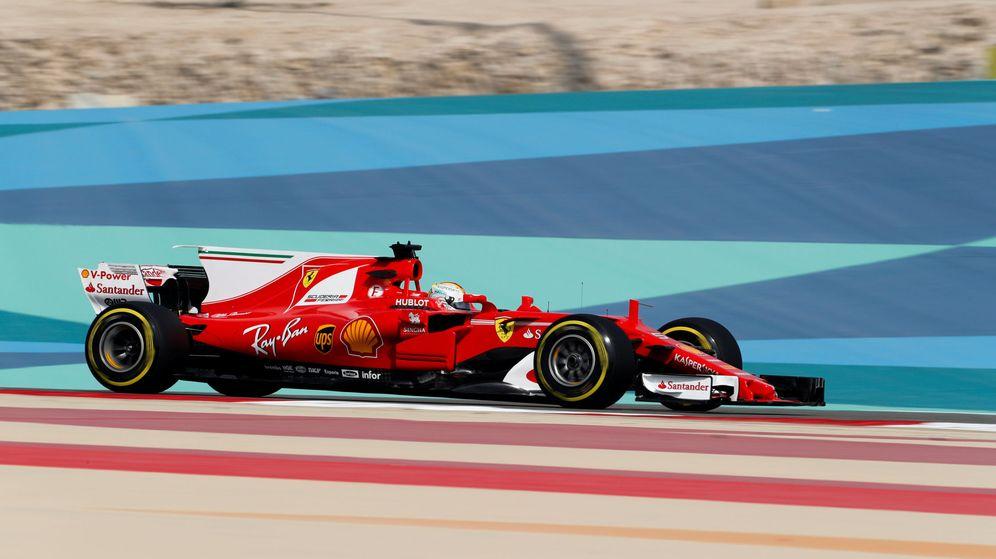Foto: Sebastian Vettel, en el circuito de Sakhir. (Reuters)