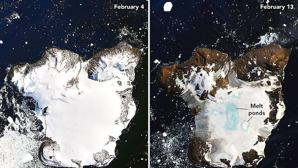 Así es la impactante foto de la NASA que revela cómo se derrite la Antártida